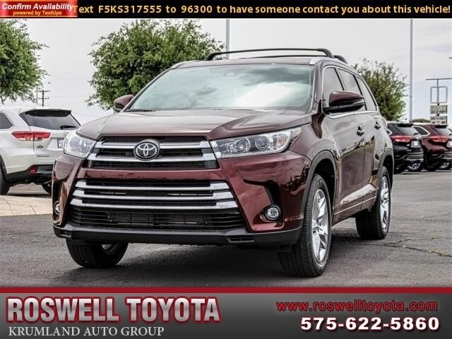 Toyota Highlander Limited >> New 2019 Toyota Highlander Limited V6 Fwd Suv